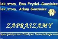 Specjalistyczna Praktyka Stomatologiczna lek. stomat. Adam Gansiniec, ul. Sobieskiego 12c, pawilon 5, Koszęcin