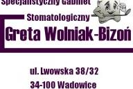 Specjalistyczny Gabinet Stomatologiczny lek. stom. Greta Wolniak-Bizoń, ul. Lwowska 38/32, Wadowice