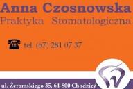 Anna Czosnowska Praktyka Stomatologiczna, ul. Żeromskiego 35, Chodzież