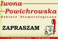 Gabinet Stomatologiczny Iwona Powichrowska, ul. Kochanowskiego 48/22, Warszawa