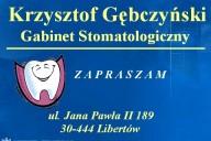 Krzysztof Gębczyński Gabinet Stomatologiczny, ul. Jana Pawła II 189, Libertów