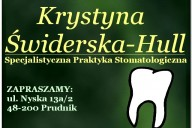 Krystyna Świderska-Hull Specjalistyczna Praktyka Stomatologiczna - Specjalista Ortodonta, ul. Nyska 13a/2, Prudnik