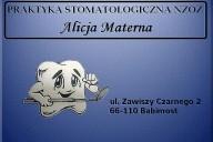 Alicja Materna Praktyka Stomatologiczna NZOZ, ul. Zawiszy Czarnego 2, Babimost
