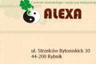 Alexa Centrum Stomatologii i Medycyny Naturalnej dr n. med. A. Smołka, ul. Strzelców Bytomskich 30, Rybnik