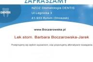 Dentis NZOZ Stomatologia Barbara Boczarowska-Jarek, ul. Legnicka 3, Bytom