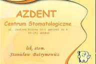 AzDent Centrum  Stomatologiczno - Protetyczne Stanisław Butrymowicz, ul. Jaśkowa Dolina 16/1 gabinet nr 4, Gdańsk