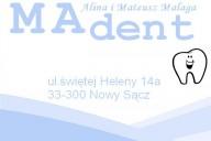 MAdent Gabinet Stomatologiczny - Alina Trybus-Malaga, Mateusz Malaga, ul. Świętej Heleny 14a, Nowy Sącz