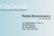 City Dental Rafał Abramowicz, ul. Rapackiego 17/4, Radom