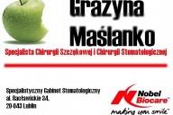 dr n.med. Grażyna Maślanko Specjalista Chirurgii Szczękowej i Stomatologicznej- Centrum Implantologii, Al. Racławickie 34, Lublin