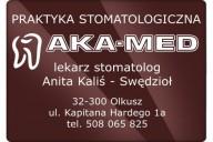 AKA-MED Praktyka Stomatologiczna Anita Kaliś-Swędzioł, ul. kpt. Hardego 1a, Olkusz