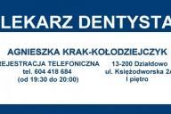 Agnieszka Krak-Kołodziejczyk Stomatolog, ul. Księżodworska 2A, Działdowo