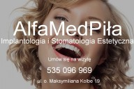 AlfaMed Piła Implantologia i Stomatologia Estetyczna, ul. o. Maksymiliana Kolbe 19, Piła
